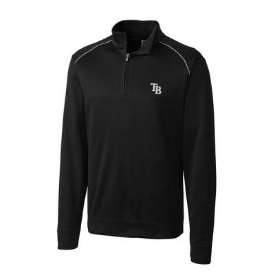 タンパベイ・レイズ Cutter & Buck Ridge WeatherTec Half-Zip Pullover ジャケット - Black