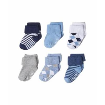 Jefferies Socks ジェフェリーズソックス 下着 ソックス/靴下 Non-Skid Argyle and Stripe Turn Cuff 6-Pack (Infant/Toddler)