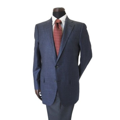 30%OFFセール ヒッキーフリーマン メンズジャケット ロロピアーナ カシミヤ シルク ブルー チェック      2l7