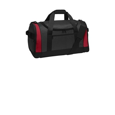 Port Authority luggage-and-bags Voyager Sports Duffel OSFA Dark Grey/Red【並行輸入品】