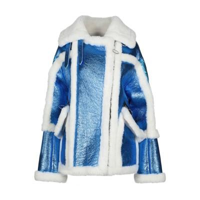 NICOLE BENISTI ダウンジャケット ブルー XS ナイロン 100% / リアルファー ダウンジャケット