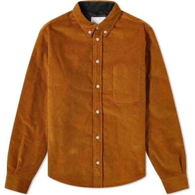 4SDESIGNS メンズ シャツ トップス Quilted Shirt Chestnut