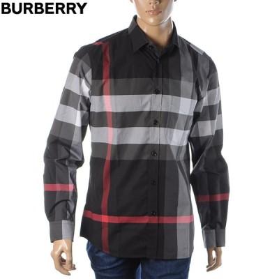 バーバリー BURBERRY シャツ 長袖 メンズ 8023772 ブラック