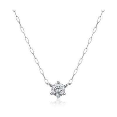 エステール ESTELLE WEB限定商品ダイヤモンド K18 ホワイトゴールド ネックレス (0.15ct) 0442-8932-0015