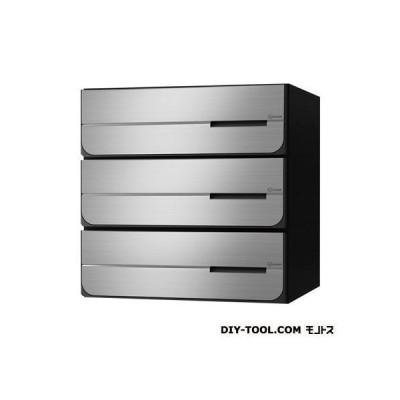 D-ALL ディーオール 大型郵便物対応集合郵便受箱(屋内仕様)前入後出 ステンレス ヘアーライン KS-MB4102PY-3L-S 0