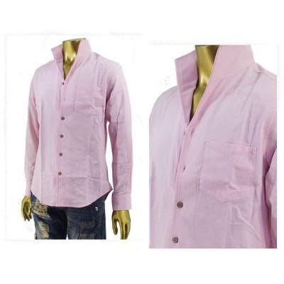 インプローブス IMPROVES 綿麻 パナマ織り ストレッチ 襟元で色気のある着こなしが可能な イタリアンカラーシャツ メンズ 「SBST-089 イタリアンカラ-」
