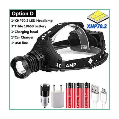 送料無料!DASHUAIGE Powerful 8000LM XHP70.2 LED Headlamp USB Rechargeable Headlight Waterproof Zoomable Power Bank Fishing Light Using