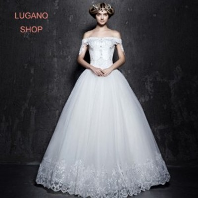 欧米デザイン2017  ウェディングドレス.ドレス.プリンセス..結婚式.演奏会. ベール・グローブ・パニエ無料付き