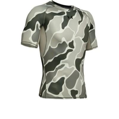 アンダーアーマー(UNDER ARMOUR)ヒートギアアーマー ノベルティ 半袖Tシャツ 1358586 GVN/BLK AT オンライン価格