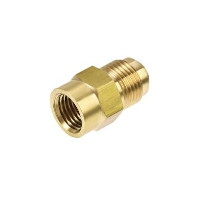 uxcell パイプ継手 ブラス製 ブラストーン HCACエアコン冷凍油圧工具用 SAE 45度 3/200mmフレアオスー 1/100mm NPT