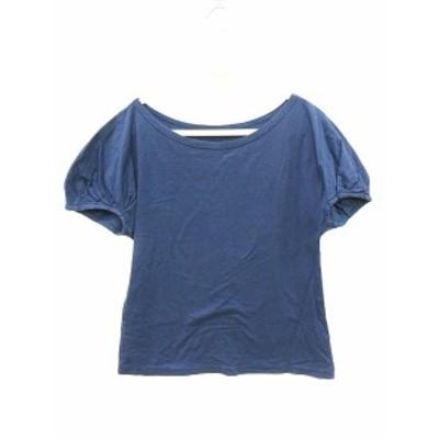 【中古】ブルーブルー BLUE BLUE カットソー Tシャツ ボートネック フレンチスリーブ 紺 ネイビー /CT レディース