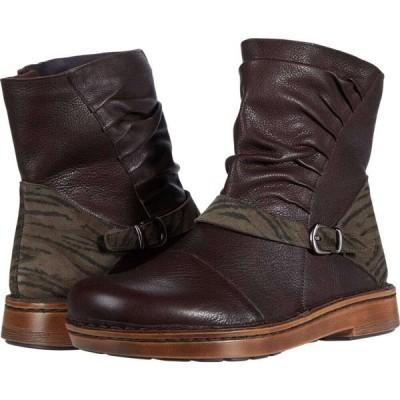ナオト Naot レディース シューズ・靴 Lorca Soft Brown Leather/Safari Olive Suede