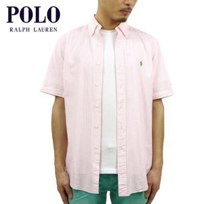 ポロ ラルフローレン メンズ POLO RALPH LAUREN 正規品 半袖ボタンダウンシャツ SEERSUCKER S