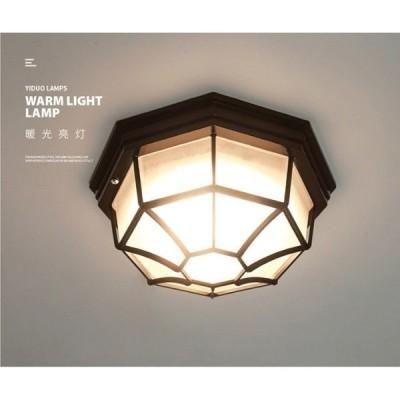 人感センサー 天井照明 内蔵LED 壁掛け照明 門灯 玄関照明 レトロ シーリングライト 工事必要 照明器具 アンティーク ウォールライト 防水 屋内 屋外用