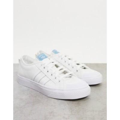 アディダス レディース スニーカー シューズ adidas Originals Nizza sneakers in triple white White