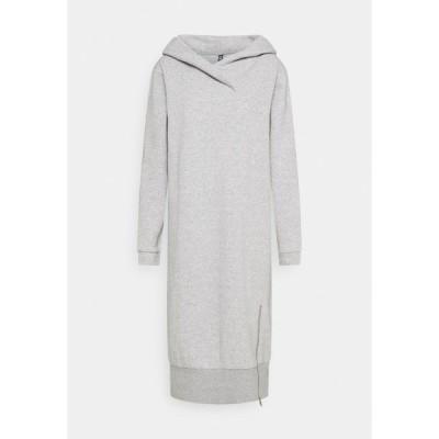 ピーシーズ トール ワンピース レディース トップス PCLEDA HOODIE DRESS  - Day dress - light grey melange