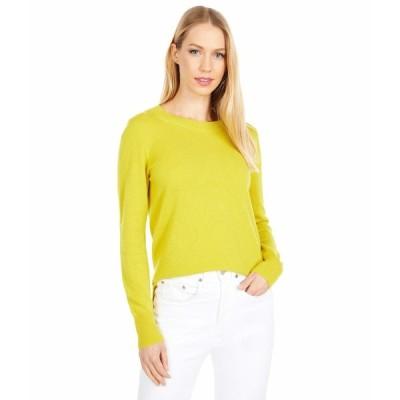 ジェイクルー ニット&セーター アウター レディース Cashmere Crew Neck Sweater Brilliant Chartreuse