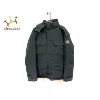 カナダグース ダウンジャケット サイズM メンズ カムループス 4075JMB 訳あり 黒 長袖/冬 新着 20210208