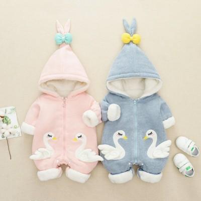 ベビー服 カバーオール 冬 ロンパース ベビー服 可愛い 暖かい 寝る服 着ぐるみ 新生児 もこもこ 赤ちゃんカバーオール