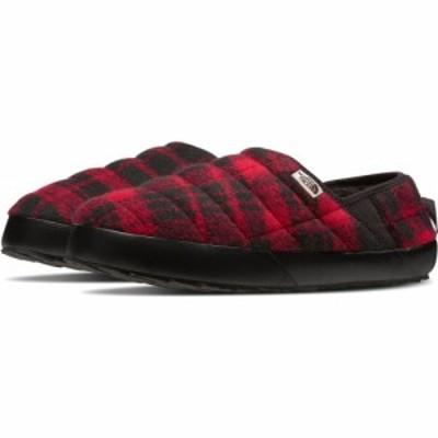 ザ ノースフェイス THE NORTH FACE メンズ スリッパ シューズ・靴 ThermoBall Traction Water Resistant Merino Wool Slipper Red Plaid/