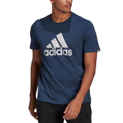 アディダス メンズ Tシャツ トップス Men's Leopard Print Badge of Sport T-Shirt