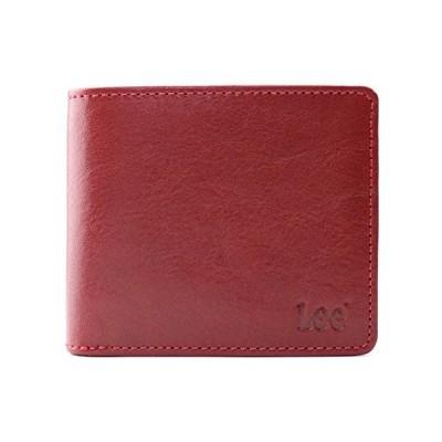 リー Book型二つ折り財布(イタリアンレザー)0520234 レッド M
