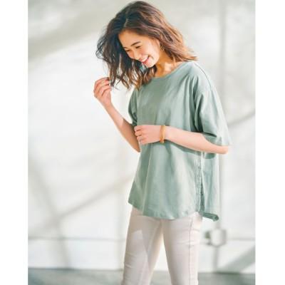 (GeeRA/ジーラ)サイドスナップボタンTシャツ      /レディース ブルー