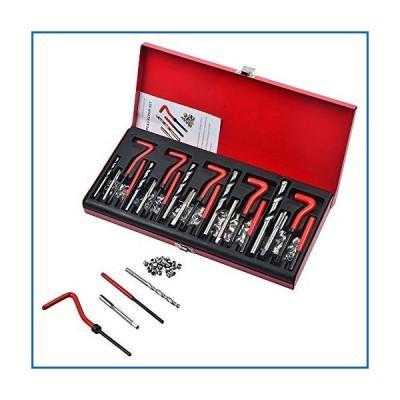 <新品>GMKD 131 Pcs Thread Repair Kit, Damaged Thread Master Repair Kit for Helicoil, Engine Block Restoring Damaged Thread Repair Tool
