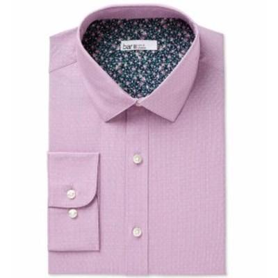ファッション ドレス BAR III NEW Purple Men Small S Slim Fit Dobby Dot Stretch Dress Shirt