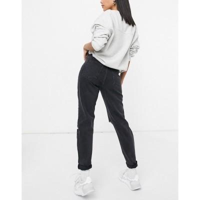 ドクターデニム レディース デニムパンツ ボトムス Dr Denim Nora jeans with extreme rip in black Concrete black ripped
