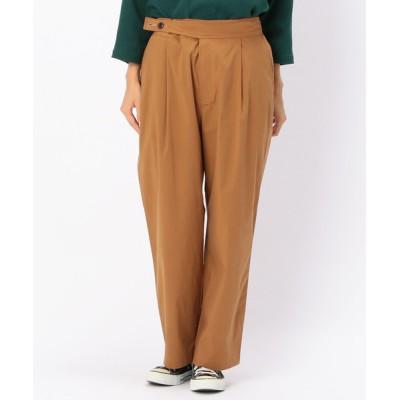 パンツ 高密度ストレッチ後ろゴム仕様パンツ