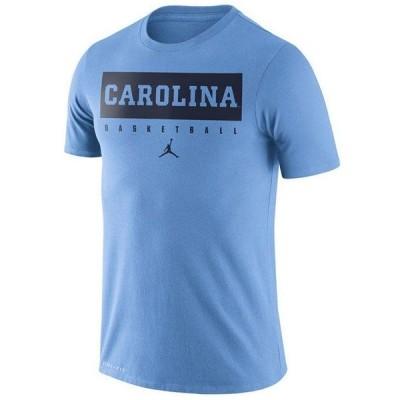 ナイキ Tシャツ トップス メンズ Men's North Carolina Tar Heels Dri-FIT Basketball Practice T-Shirt LightBlue