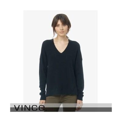 Vince ヴィンス Vネック カシミアセーター ブラック ブルー