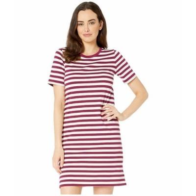 マイケルコース ワンピース トップス レディース Stripe Short Sleeve T-Shirt Dress Bone/Garnet