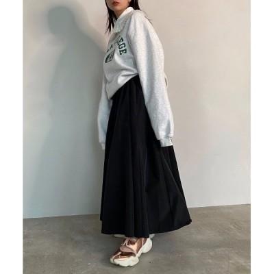 スカート 【SANSeLF】 taffeta maxi skirt sanwz2