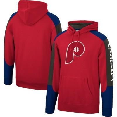 ミッチェル&ネス メンズ パーカー・スウェット アウター Philadelphia Phillies Mitchell & Ness Fusion Fleece Pullover Hoodie