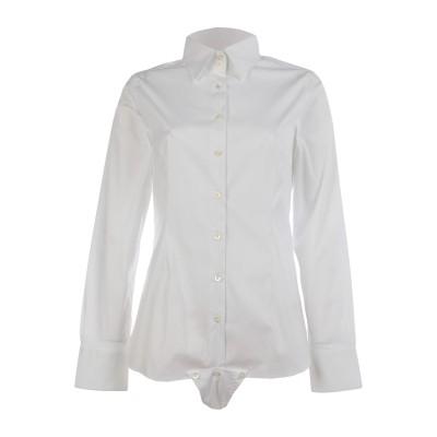 ROSSI DONNA シャツ ホワイト 46 コットン 67% / ポリエステル 30% / ポリウレタン 3% シャツ