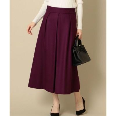 スカート ウールワイドスカート