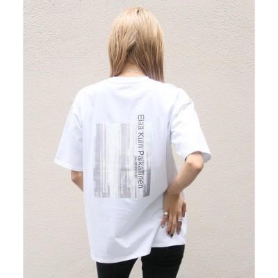 tシャツ Tシャツ 【Avvenente】ニュアンス転写プリントTシャツ