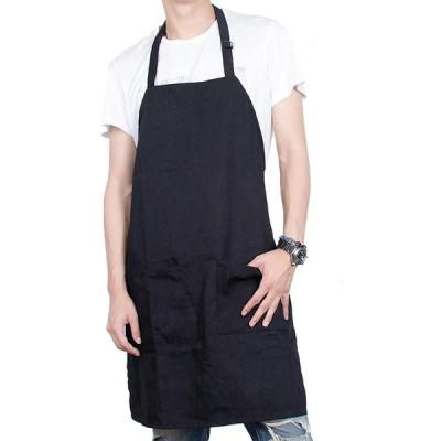 シンプルエプロン 首掛け 男女用 サイズ調節可能 シワになりにくい ホコリが付きにくい 料理用 作業用 カフェエプロン