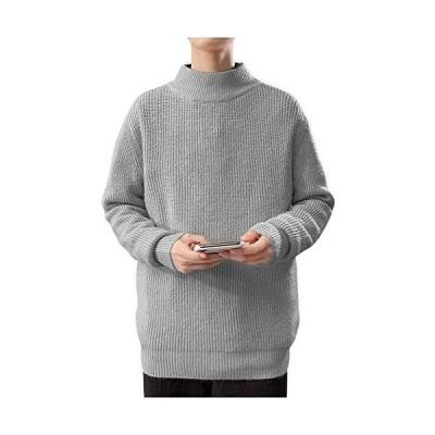 [ゴスファング] GO108GY セーター ニット ハイネック タートルネック ハイネックセーター 長袖 ながそで リブニット リブ アクリ