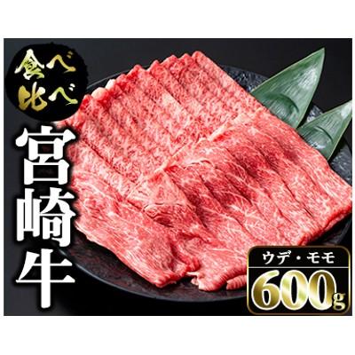 宮崎牛スライス(ウデ・モモ)合計600g&粗挽きウインナー180gセット<合計780g>