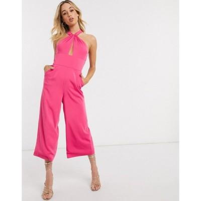 ラビッシュアリス レディース ワンピース トップス Lavish Alice ruffle wrap jumpsuit in pink Pink