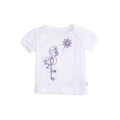 NAME IT® T シャツ ホワイト 6 オーガニックコットン 95% / ポリウレタン 5% T シャツ