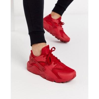 ナイキ メンズ スニーカー シューズ Nike Air Huarache sneaker in red