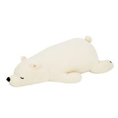 抱き枕 ぬいぐるみ 白くま プレミアムねむねむアニマルズ ラッキー Lサイズ ( 抱きまくら 動物 シロクマ プレミアム 枕 まくら クッション もちもち しっとり しろくま 白熊 アニマル 洗える 洗濯 )