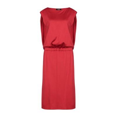 CALVIN KLEIN 205W39NYC 7分丈ワンピース・ドレス レッド 42 レーヨン 75% / コットン 25% 7分丈ワンピース・ドレス