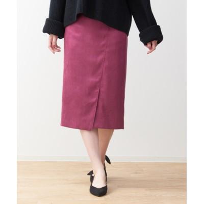 スカート スエードミディタイトスカート
