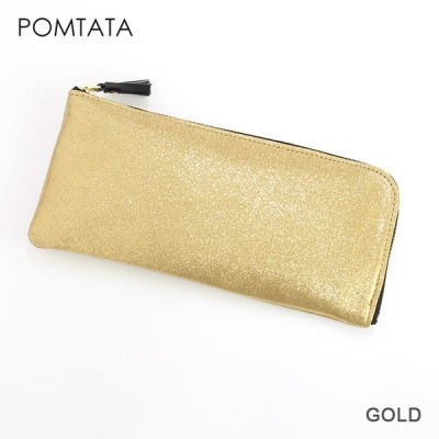 POMTATA ポンタタ 箔 L型ジップロングウォレット P1060