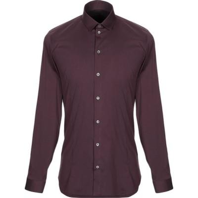 パトリツィア ペペ PATRIZIA PEPE メンズ シャツ トップス solid color shirt Maroon